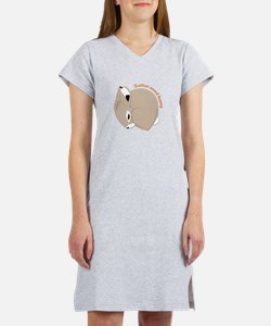 Button Nosed Bunny Women's Nightshirt