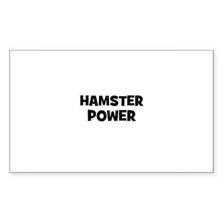 hamster power Rectangle Sticker