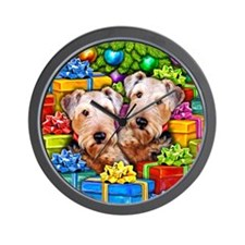 Airedale Terrier Christmas Wall Clock