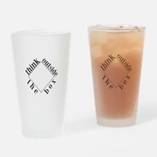 Think Outside the Box Drinking Glass