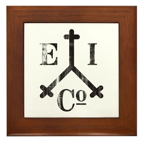 East India Trading Company Logo Framed Tile