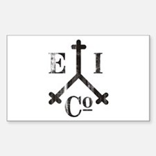 East India Trading Company Logo Sticker (Rectangul