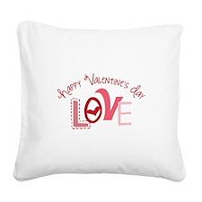 Valentines Love Square Canvas Pillow