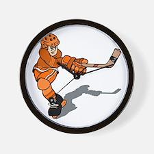 orange player Wall Clock