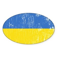 Vintage Ukraine Oval Decal