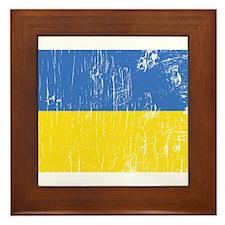 Vintage Ukraine Framed Tile