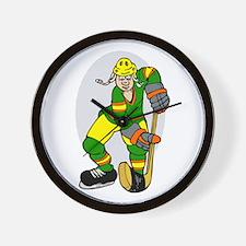 Green yellow orange player Wall Clock