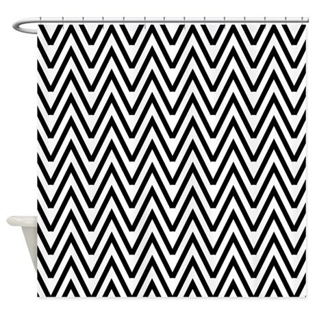 black and white chevron shower curtain by anabellstar