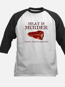 Meat is Tasty Murder Baseball Jersey