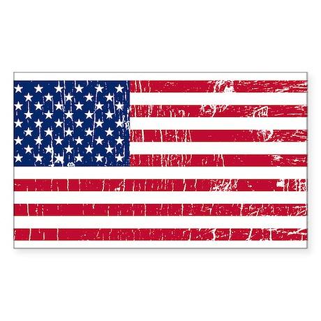 Vintage USA Rectangle Sticker