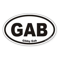 Gibby Gab GAB Euro Oval Decal