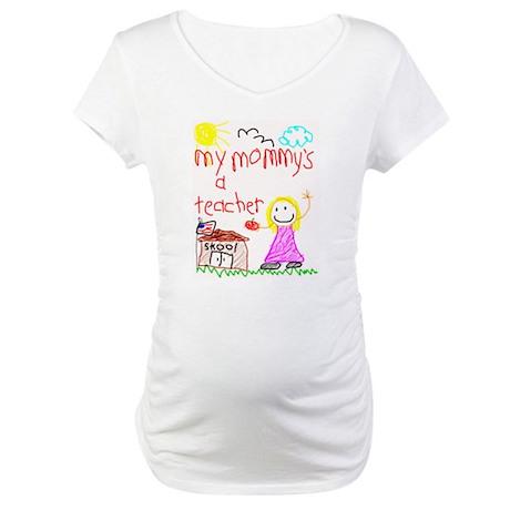"""Blonde Hair Mommy"" Maternity T-Shirt"