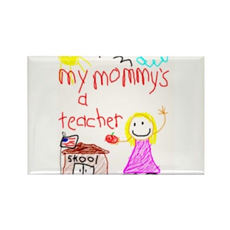 """""""Blonde Hair Mommy"""" Rectangle Magnet (100 pack)"""