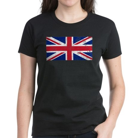 Vintage Union Jack Women's Dark T-Shirt