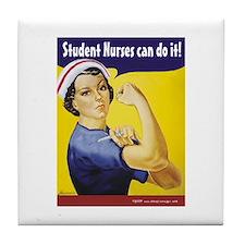 Student Nurses can do it! Tile Coaster