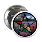 Pentacle Collage Button