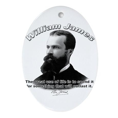 William James 10 Oval Ornament