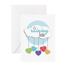 Its Raining Love Greeting Cards