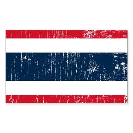 Vintage Thailand Rectangle Sticker