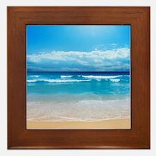 Tropical Wave Framed Tile