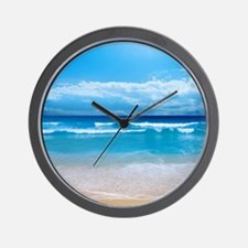 Tropical Wave Wall Clock