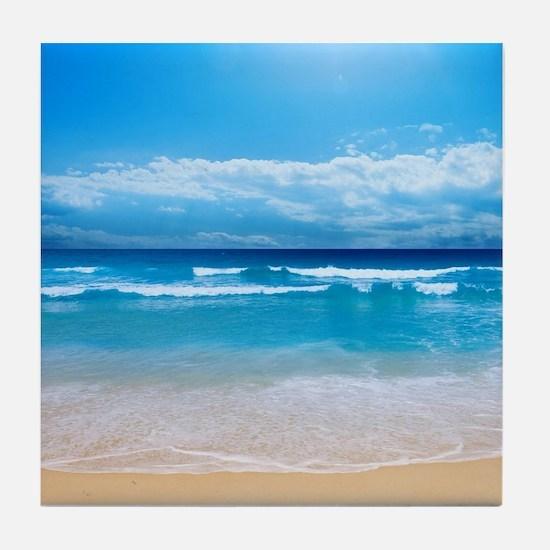 Tropical Wave Tile Coaster