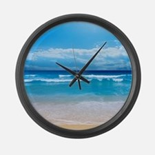 Tropical Wave Large Wall Clock
