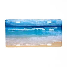 Tropical Wave Aluminum License Plate