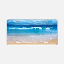 Tropical Wave Aluminum License Plate