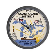 9th Coast Guard District <BR>Wall Clock