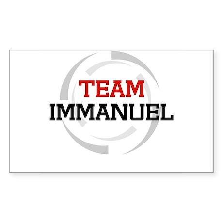 Immanuel Rectangle Sticker