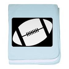 football logo black baby blanket