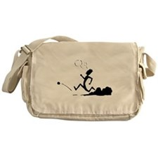 Cartoon Runner Messenger Bag