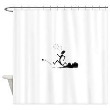 Cartoon Runner Shower Curtain