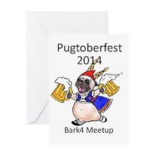 pugtoberfest2014 Greeting Card
