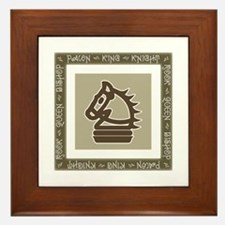 Chessman Showcase - The Knight Framed Tile