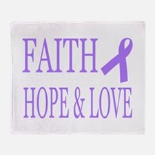 Cool Colon cancer hope love faith inspirational Throw Blanket