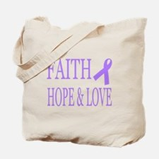 Cute General cancer lavender ribbon Tote Bag