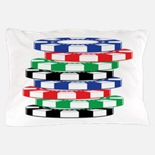 Poker Chips Pillow Case