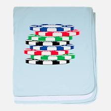 Poker Chips baby blanket