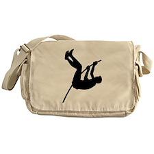 Pole Vaulter Silhouette Messenger Bag