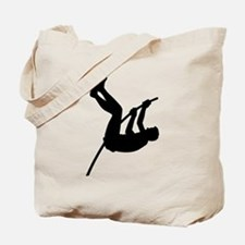 Pole Vaulter Silhouette Tote Bag