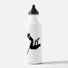 Pole Vaulter Silhouette Water Bottle