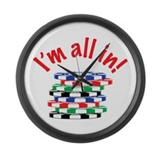 Im All In! Large Wall Clock
