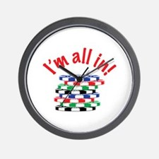 Im All In! Wall Clock