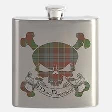 MacPherson Tartan Skull Flask