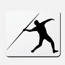 Javelin Throw Silhouette Mousepad