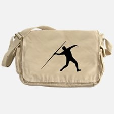 Javelin Throw Silhouette Messenger Bag