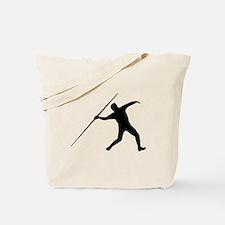 Javelin Throw Silhouette Tote Bag