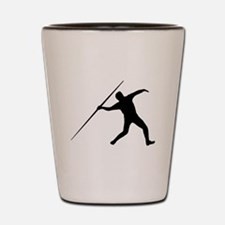 Javelin Throw Silhouette Shot Glass